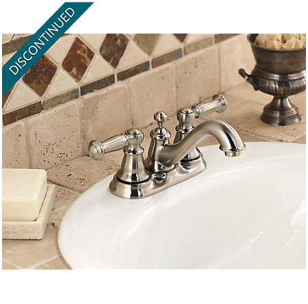 Brushed Nickel Bristol Centerset Bath Faucet - 048-CT0K - 2