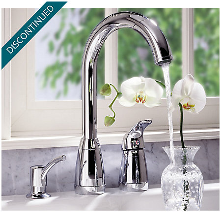 Polished Chrome Contempra 1-Handle Kitchen Faucet - 526-50CC - 3