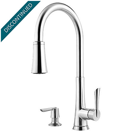 Polished Chrome Mystique 1-Handle, Pull-Down Kitchen Faucet - 529-7MDC - 1