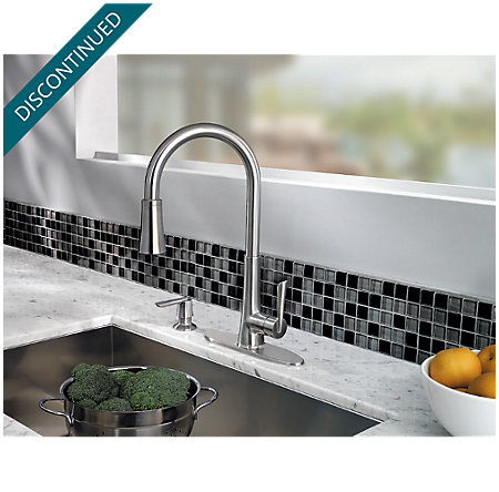 Stainless Steel Mystique 1-Handle, Pull-Down Kitchen Faucet - 529-7MDS - 3