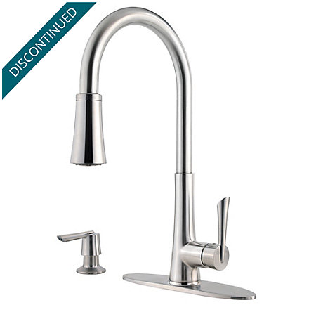 Stainless Steel Mystique 1-Handle, Pull-Down Kitchen Faucet - 529-7MDS - 2