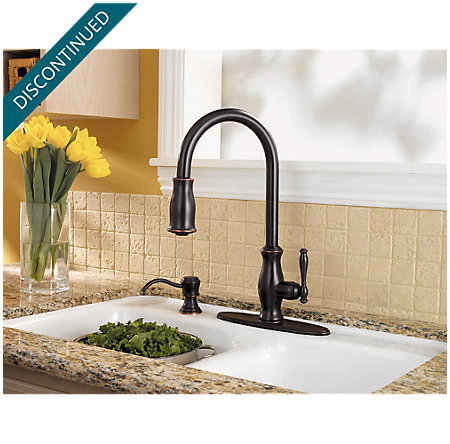 Tuscan Bronze Hanover 1-Handle, Pull-out/Pull-Down Kitchen Faucet - 529-7TMY - 6