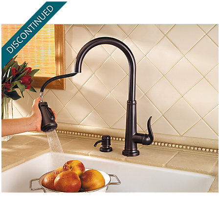 Tuscan Bronze Ashfield 1-Handle, Pull-Down Kitchen Faucet - 529-7YPY - 3