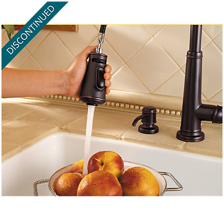 Tuscan Bronze Ashfield 1-Handle, Pull-Down Kitchen Faucet - 529-7YPY - 4
