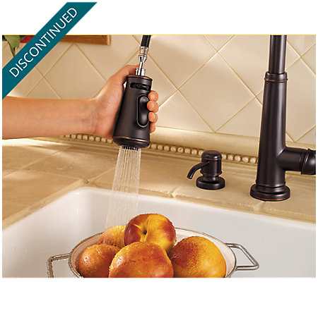 Tuscan Bronze Ashfield 1-Handle, Pull-Down Kitchen Faucet - 529-7YPY - 6