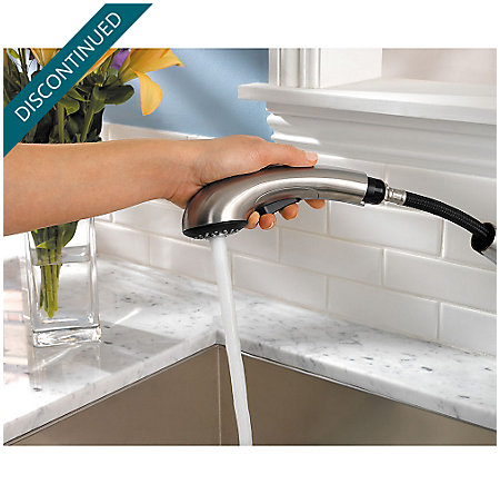 Stainless Steel Clairmont 1-Handle, Pull-out/Pull-Down Kitchen Faucet - 534-7CMS - 5