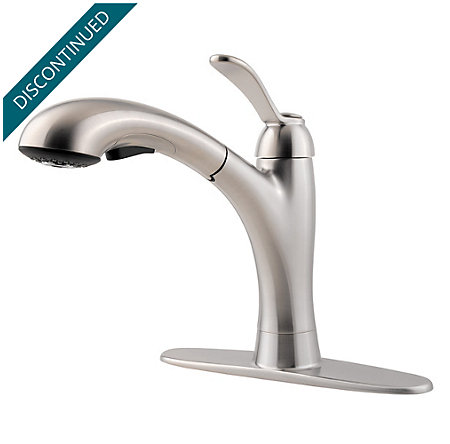 Stainless Steel Clairmont 1-Handle, Pull-out/Pull-Down Kitchen Faucet - 534-7CMS - 2