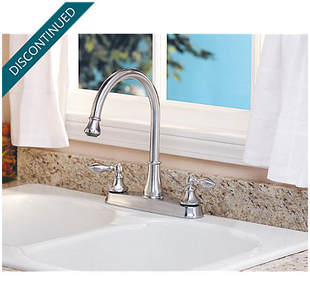 Stainless Steel Catalina 2-Handle, Pull-out/Pull-Down Kitchen Faucet - 536-E0BS - 1