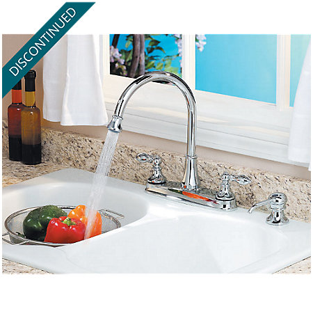 Polished Chrome Catalina 2-Handle, Pull-out/Pull-Down Kitchen Faucet - 536-EPBC - 3