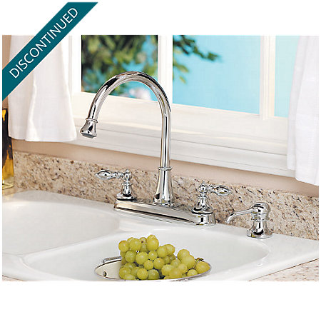Polished Chrome Catalina 2-Handle, Pull-out/Pull-Down Kitchen Faucet - 536-EPBC - 6