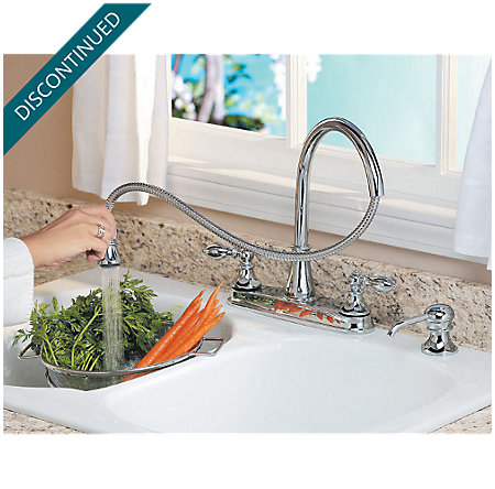 Polished Chrome Catalina 2-Handle, Pull-out/Pull-Down Kitchen Faucet - 536-EPBC - 9
