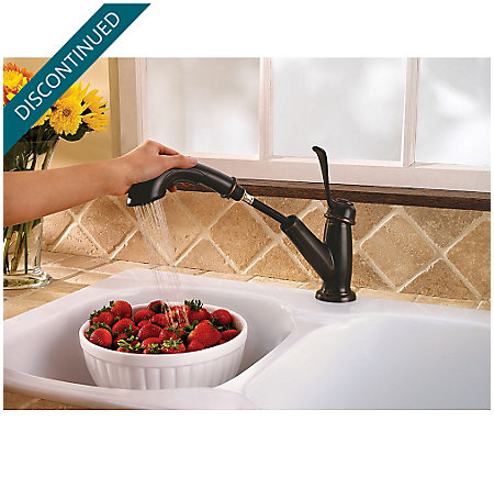 Tuscan Bronze Bixby 1-Handle, Pull-out/Pull-Down Kitchen Faucet - 538-5LCY - 6