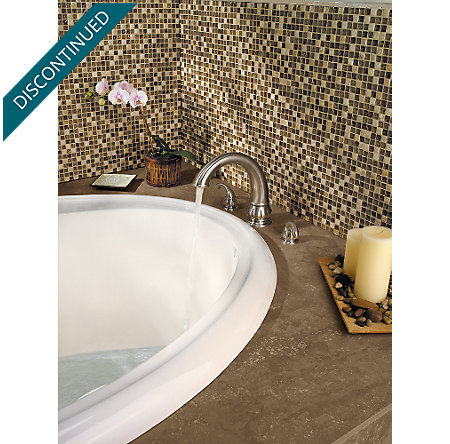 Brushed Nickel Treviso 3 Hole Roman Tub - 806-DK00 - 5