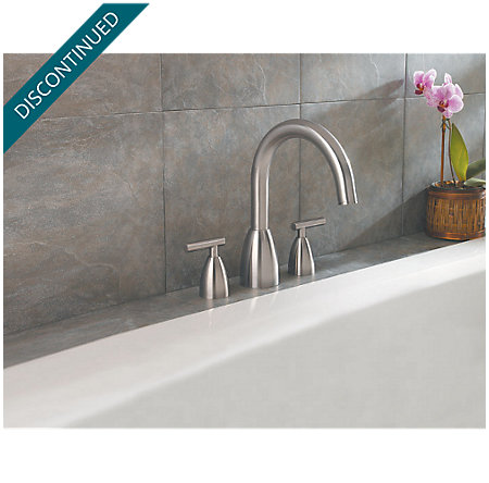 Brushed Nickel Contempra 3-Hole Roman Tub, Complete With Valve - 806-NK00 - 2