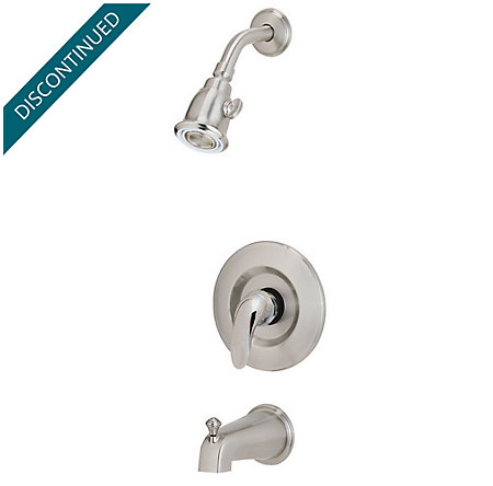 Brushed Nickel Parisa 1-Handle Tub & Shower, Complete with Valve - 808-7BAK - 1