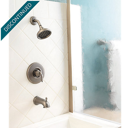 Rustic Pewter Avalon Tub & Shower Combo - 808-CB0E - 2
