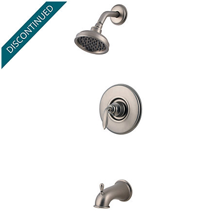 Rustic Pewter Avalon Tub & Shower Combo - 808-CB0E - 1
