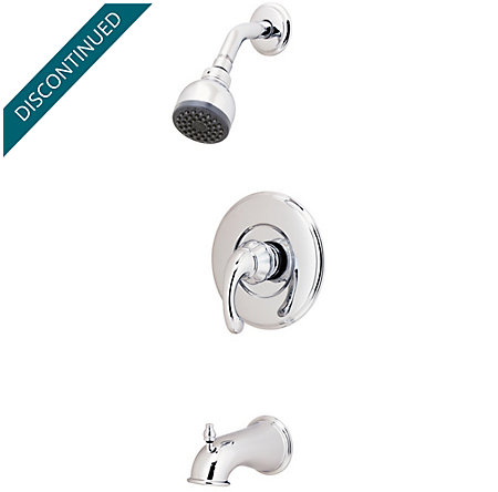 Polished Chrome Treviso Tub & Shower Combo - 808-DC00 - 1