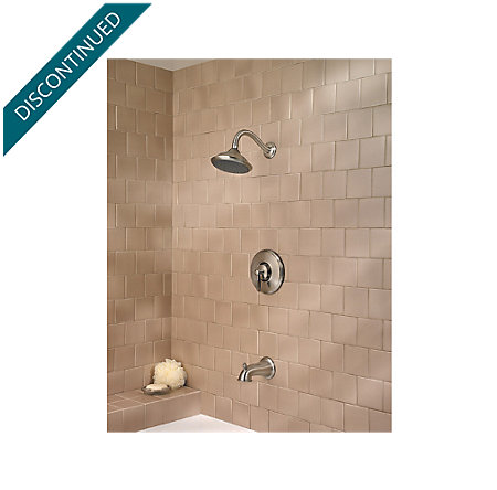 Brushed Nickel Langston Tub & Shower Combo - 808-LN0K - 2