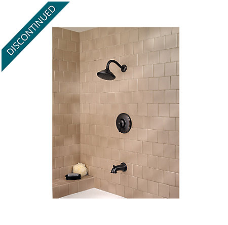 Tuscan Bronze Langston Tub & Shower Combo - 808-LN0Y - 2