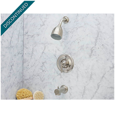 Brushed Nickel Contempra Tub & Shower Combo - 808-NK00 - 2