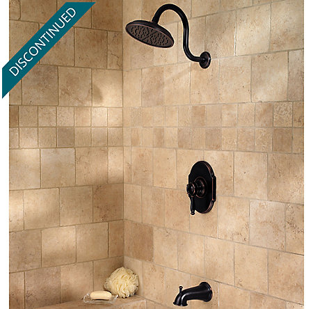 Tuscan Bronze Hanover 1-Handle Tub & Shower, Complete with Valve - 808-TMYY - 2