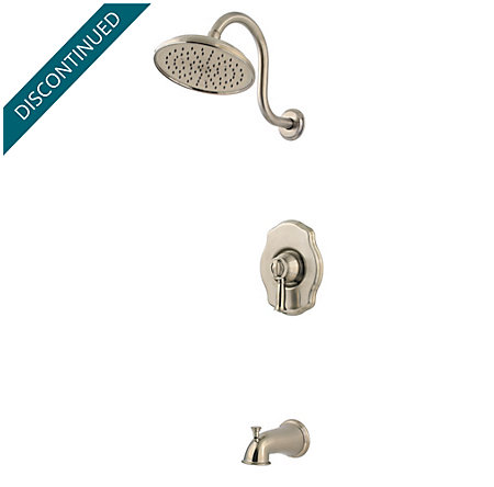 Brushed Nickel Virtue Tub & Shower Combo - 808-VTKK - 1