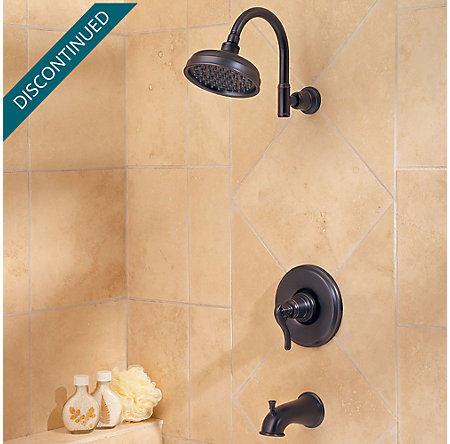 Tuscan Bronze Ashfield 1-Handle Tub & Shower, Complete with Valve - 808-YP0Y - 2