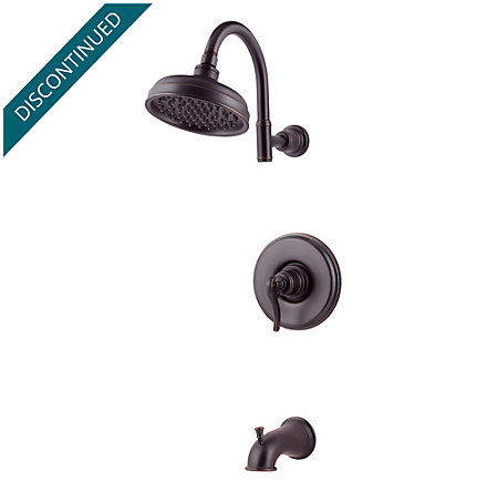 Tuscan Bronze Ashfield 1-Handle Tub & Shower, Complete with Valve - 808-YP0Y - 1
