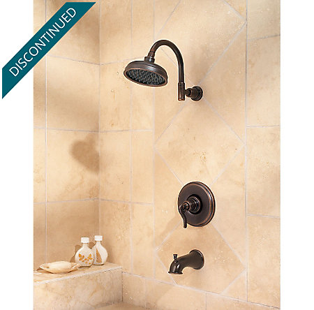 Rustic Bronze Ashfield 1-Handle Tub & Shower, Complete with Valve - 808-YP0U - 2