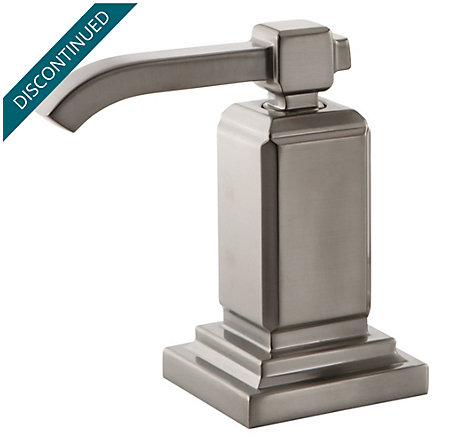 Brushed Nickel Carnegie Lav/Roman Tub Handle - 940-167J - 1