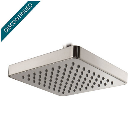 Brushed Nickel Kenzo Raincan Showerhead - 973-036J - 1