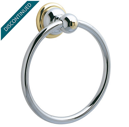 Polished Chrome / Polished Brass Georgetown Towel Ring - BRB-B0CB - 1