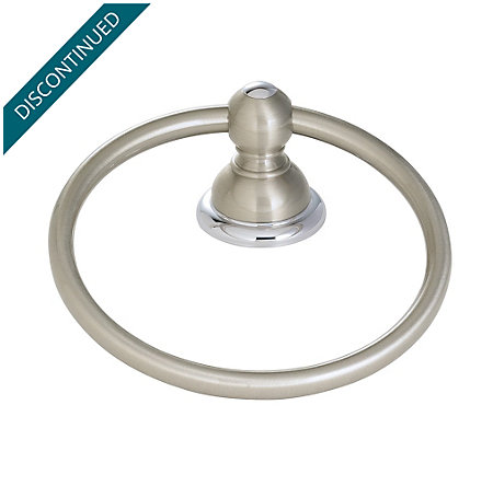 Brushed Nickel / Polished Chrome Georgetown Towel Ring - BRB-B0CK - 1