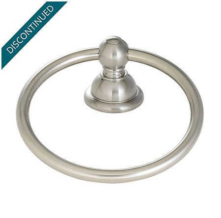 Brushed Nickel Georgetown Towel Ring - BRB-B0KK - 1