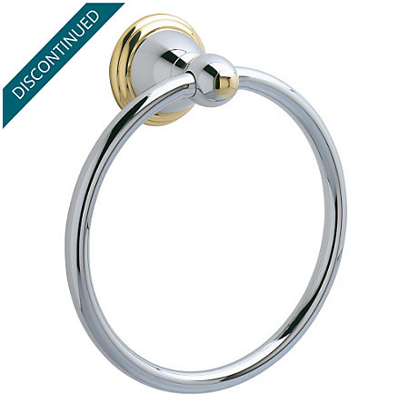 Polished Chrome / Polished Brass Conical Towel Ring - BRB-C0CB - 1