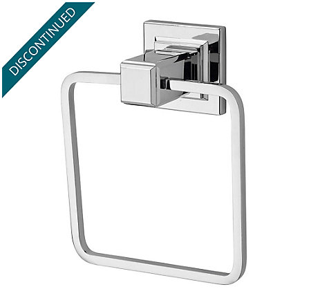 Polished Chrome Carnegie Towel Ring - BRB-WE1C - 1