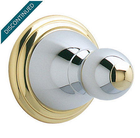 Polished Chrome / Polished Brass Conical Robe Hook - BRH-C0CB - 1
