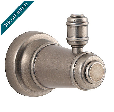 Rustic Pewter Ashfield Robe Hook - BRH-YP0E - 1