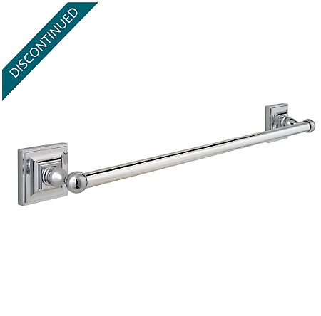 "Polished Chrome Shelton 18"" Towel Bar - BTB-S1CC - 1"