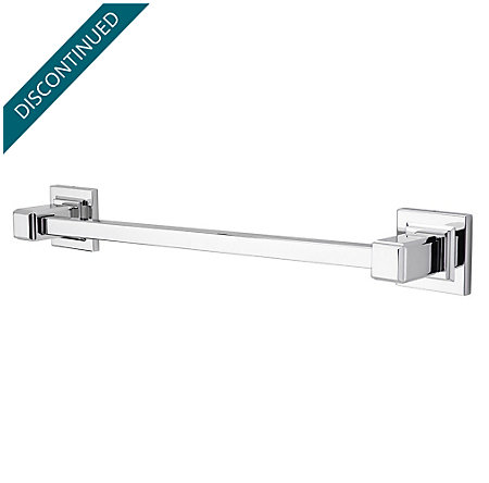 "Polished Chrome Carnegie 18"" Towel Bar - BTB-WE1C - 1"