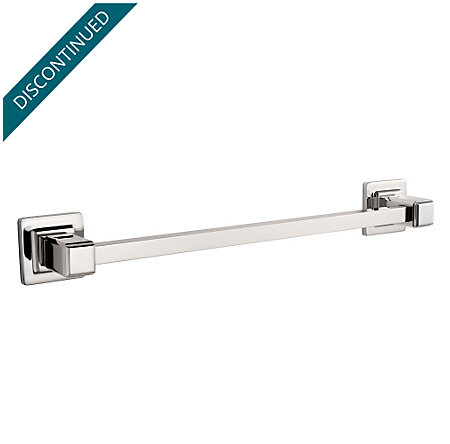 "Polished Nickel Carnegie 24"" Towel Bar - BTB-WE2D - 1"