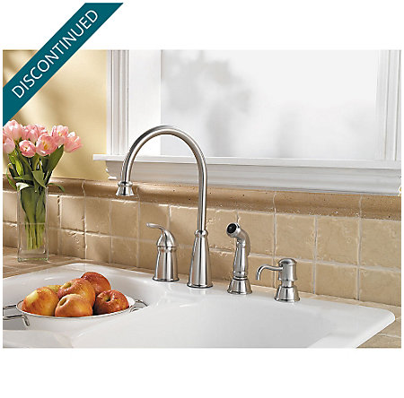 Stainless Steel Avalon 1-Handle Kitchen Faucet - F-026-4CBS - 3