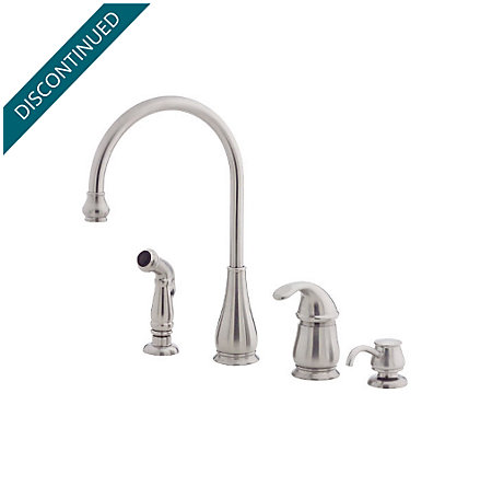 Stainless Steel Treviso 1-Handle Kitchen Faucet - F-026-4DSS - 1