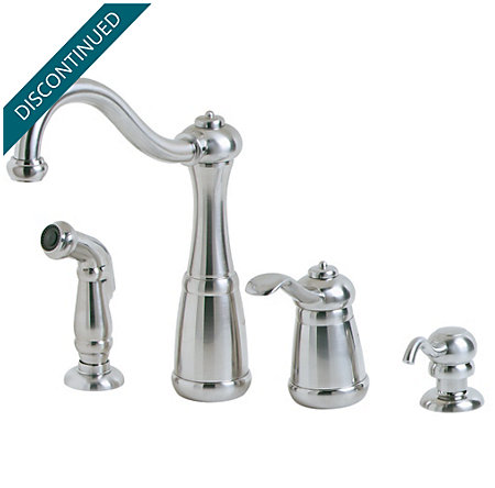 Stainless Steel Marielle 1-Handle Kitchen Faucet - F-026-4NSS - 1