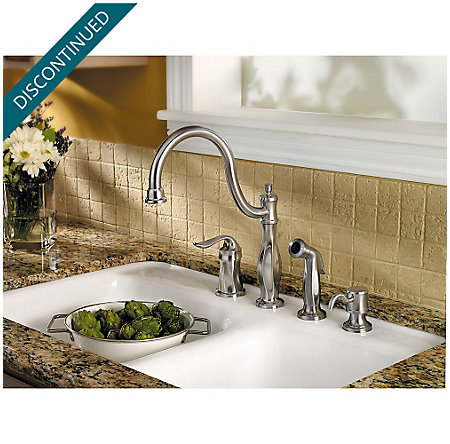 Stainless Steel Cadenza 1-Handle Kitchen Faucet - F-026-4TWS - 2