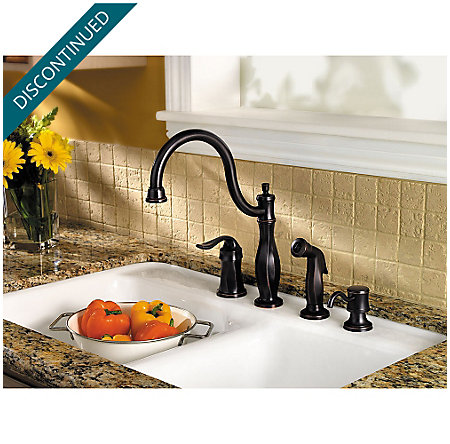 Tuscan Bronze Cadenza 1-Handle Kitchen Faucet - F-026-4TWY - 2