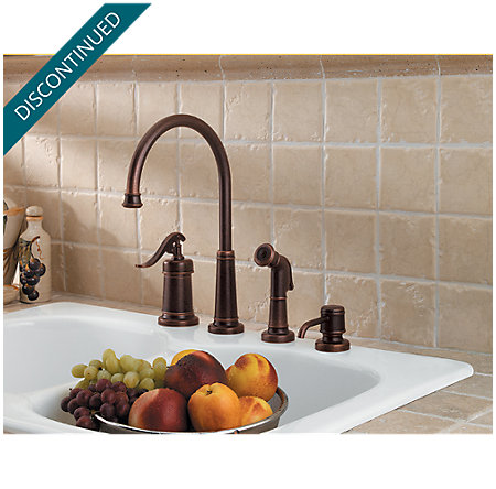 Rustic Bronze Ashfield 1-Handle Kitchen Faucet - F-026-4YPU - 2