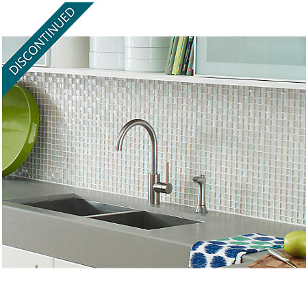 Stainless Steel Solo 1-Handle Kitchen Faucet - F-029-4SLS - 3