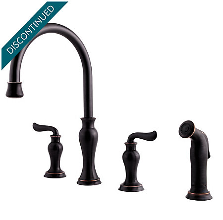 Tuscan Bronze Florentino 2-Handle Kitchen Faucet - F-031-4VAY - 1